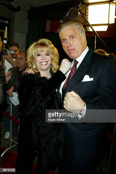 "Associate Producer Jackie Kallen and actor Joe Cortese arrive at the premiere of ""Against the Ropes"" at the Chinese Theater on February 11, 2004 in..."