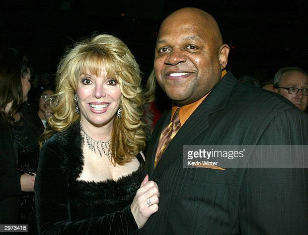 "Associate producer Jackie Kallen and actor/director Charles S. Dutton pose at the after-party for ""Against the Ropes"" at the Highlands on February..."