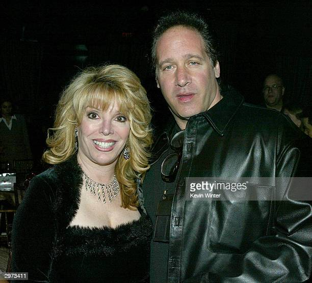 Associate producer Jackie Kallen and comedian Andrew Dice Clay pose at the afterparty for Against the Ropes at the Highlands on February 11 2004 in...