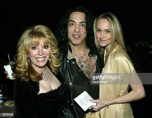 "Associate producer Jackie Kallen , musician Paul Stanley and Erin Sutton pose pose at the after-party for ""Against the Ropes"" at the Highlands on..."
