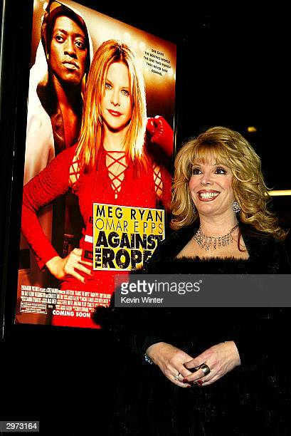 "Associate producer Jackie Kallen, on whose life the film is based, arrives at the premiere of ""Against the Ropes"" at the Chinese Theater on February..."