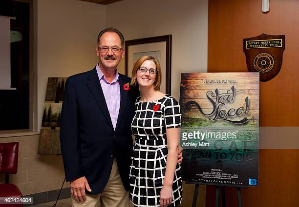 Associate producer Raymond Matt and producer Ashley Matt attend 'Start Local' Documentary Private Screening at the Midland Cultural Centre on...