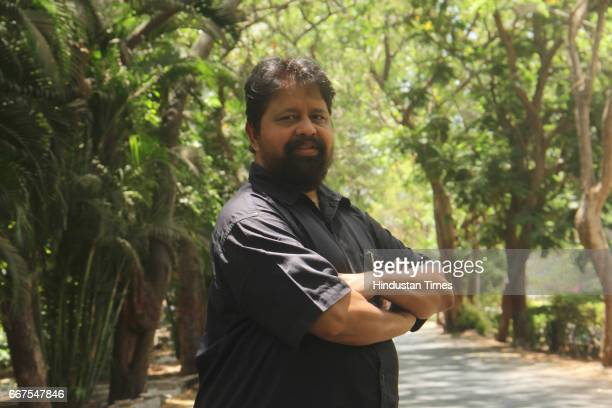 Associate Professor Hindi Department Hubnath Pandey poses during an exclusive interview with Hindustan Times at Mumbai University's Kalina campus on...