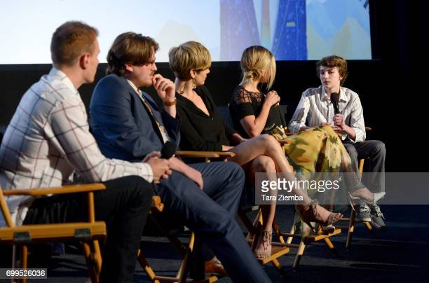"""Associate programmer Cooper Hopkins, Sam Patton, Jaimi Paige, Alyshia Ochse, and Toby Nichols attend the screening of """"Desolation"""" during the 2017..."""