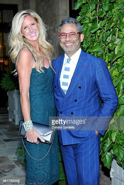 Associate Publisher Luxury Vanity Fair Amber Estabrook and CEO ISAIA Gianluca Isaia attend ISAIA and Vanity Fair Summer Soiree benefiting PSLA on...