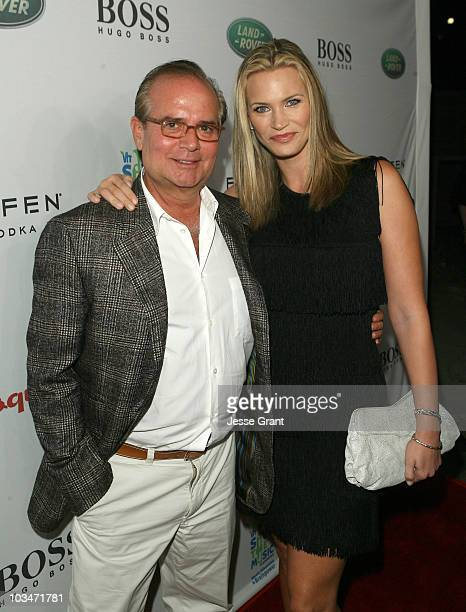 Associate Publisher of Esquire Stephen Jacoby and Actress Natasha Henstridge arrive at VH1 Save The Music Foundation and Esquire Magazine Benefit...