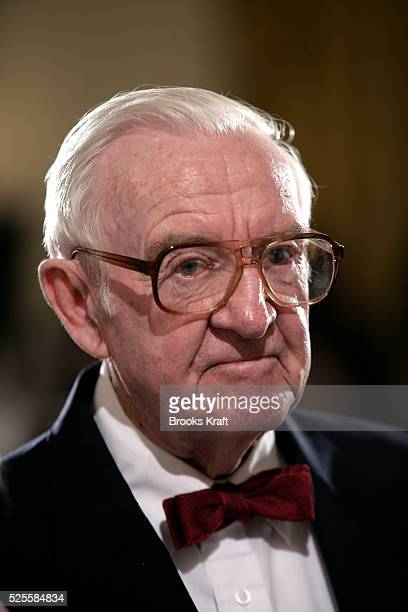 Associate Supreme Court Justice John Paul Stevens at the swearing in of Judge John Roberts as the 17th Chief Justice of the United States by during a...