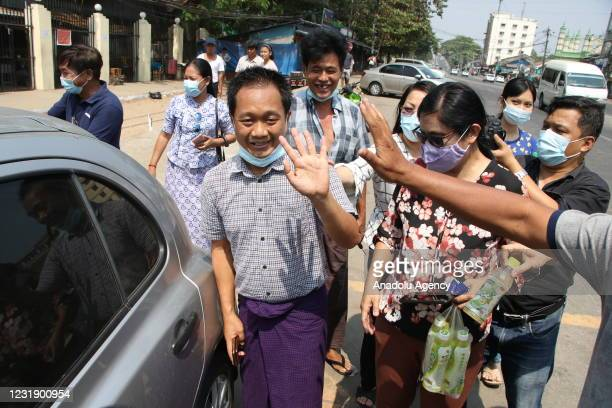 Associated Press news agency employee Thein Zaw, who was detained while covering protests against the military coup and the detention of elected...