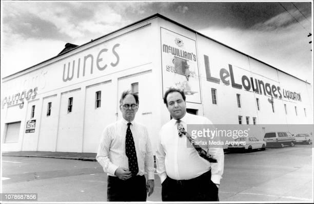 Associates Ian Andrews and Mike Boulos outside the WcWilliams Wine ***** building car of Bulwarra Rd and Pyrmont Bridge RdBusiness associates Ian...