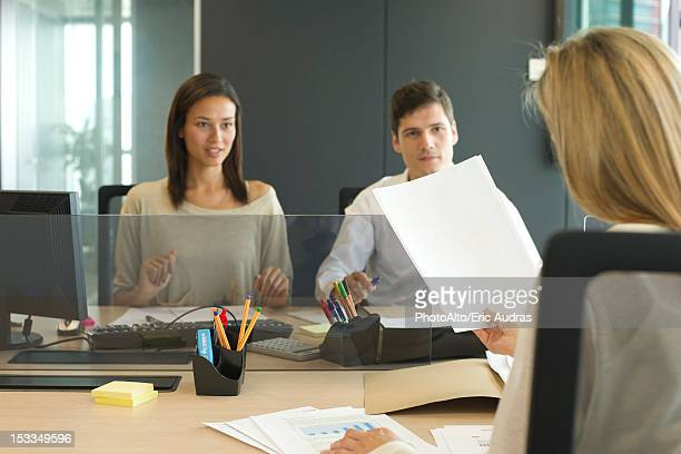 Associates meeting in office