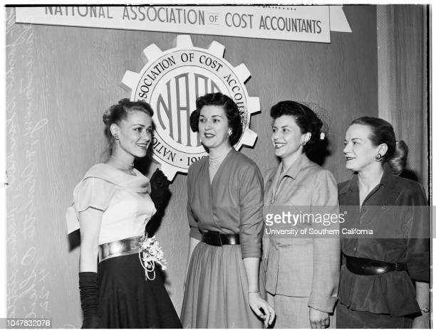 National Secretary at Biltmore Hotel 22 April 1954 Jackie Blanchard Maxine LittleClaire ToweryCharlotte O'Sheil officers of the National Secretary...