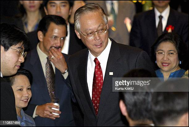Association Of Southeast Asian Nations Summit In Tokyo, Japan On December 12, 2003 - Singapore Prime Minister Goh Chok Tong smiles while arriving at...