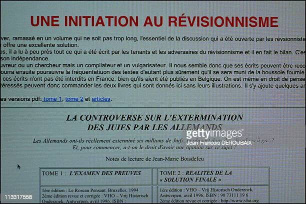 Association Of The Ancients Amateurs Of War And Holocaust Stories On March 13Th 2005 In Paris France Eight Antiracist Associations Will Attempt On...