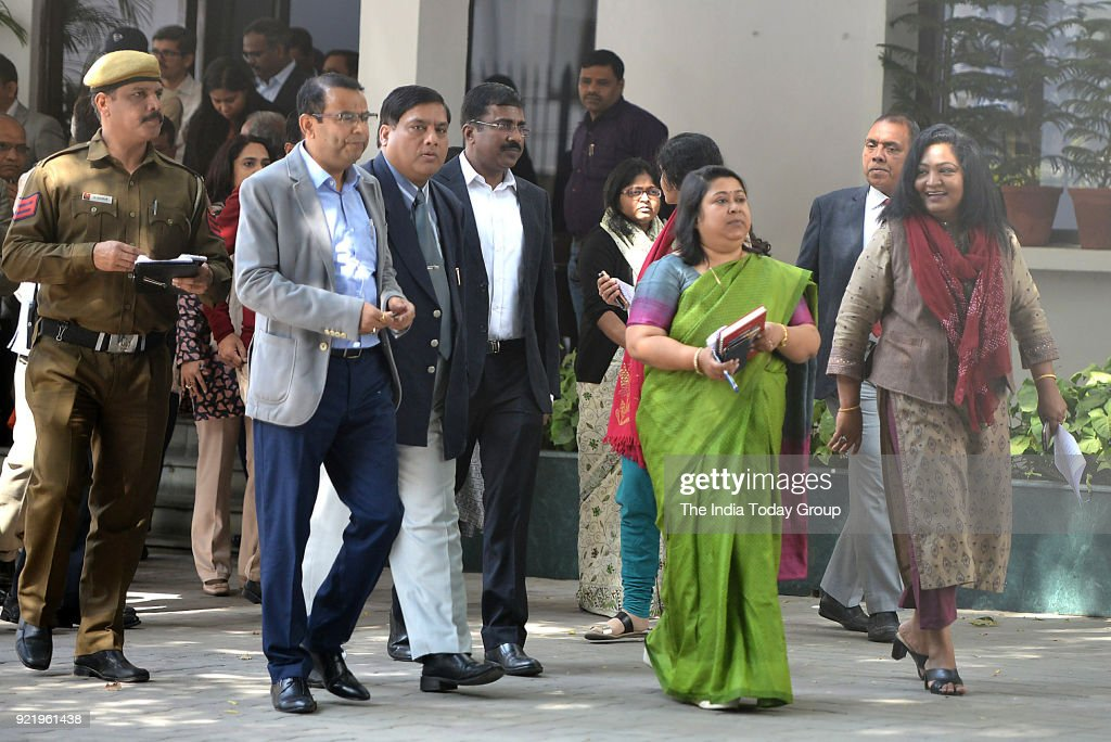 IAS Association Secretary Manisha Saxena along with other IAS officers after meeting Lt Governor Anil Baijal over alleged manhandling of Delhi Chief Secretary Anshu Prakash in New Delhi.