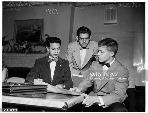 Associations Junior Statesmen Convention Santa Barbara 09 November 1951 Dick Bartholame Huntington ParkAnn Gabbert Salinas Editor of Junior Statesman...