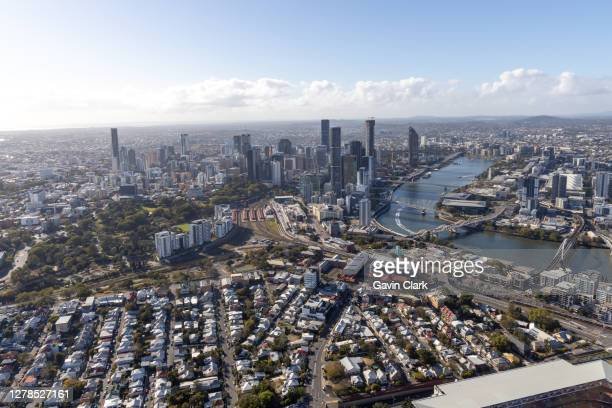 assorted aerial images from brisbane - brisbane stock pictures, royalty-free photos & images