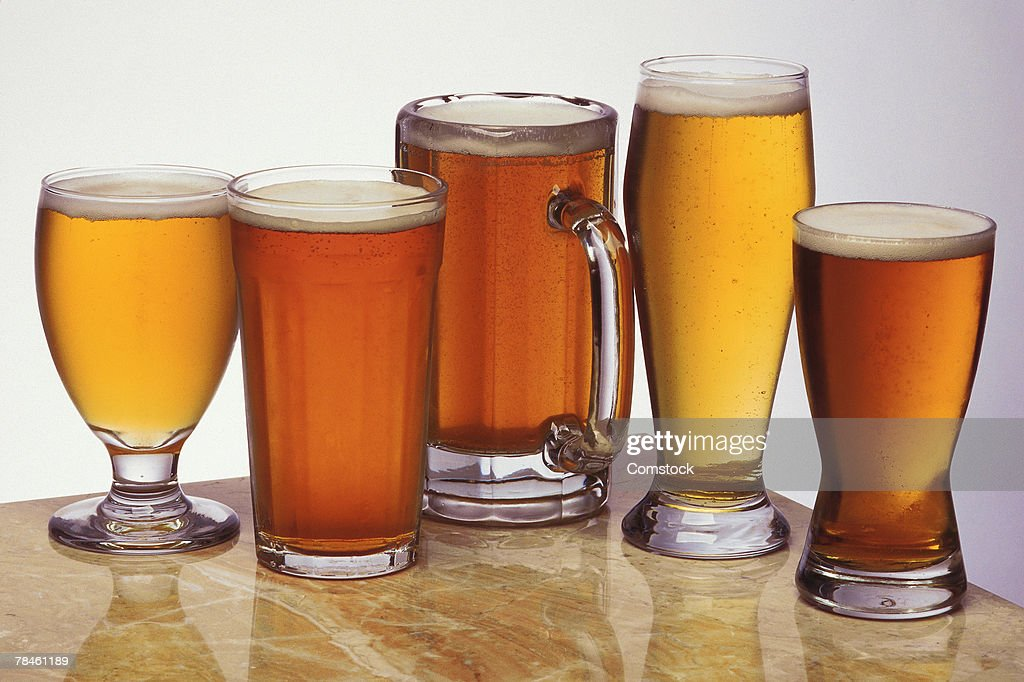 Assorted beers and ales : Stock Photo