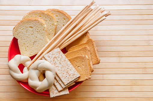 Assorted breads, breadsticks and baked goods - gettyimageskorea