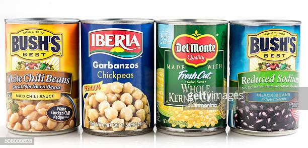 assorted canned vegetables - canned food stock pictures, royalty-free photos & images