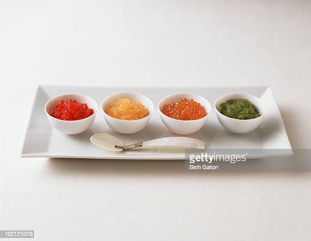 assorted caviar - sturgeon fish stock pictures, royalty-free photos & images