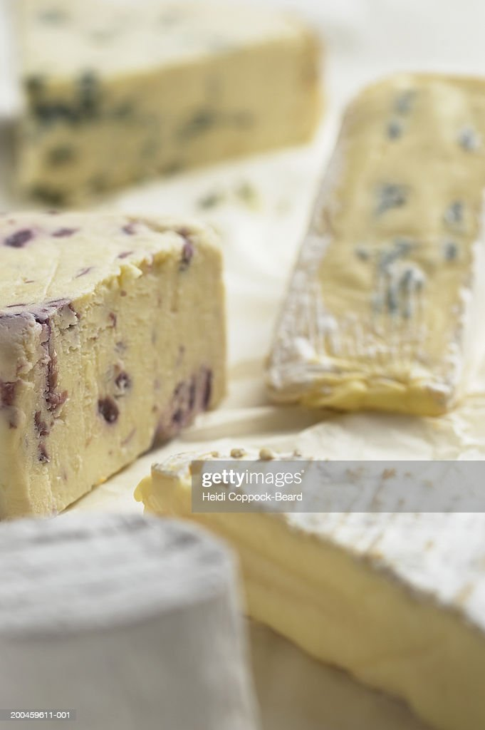 Assorted cheeses, close-up : Stock Photo