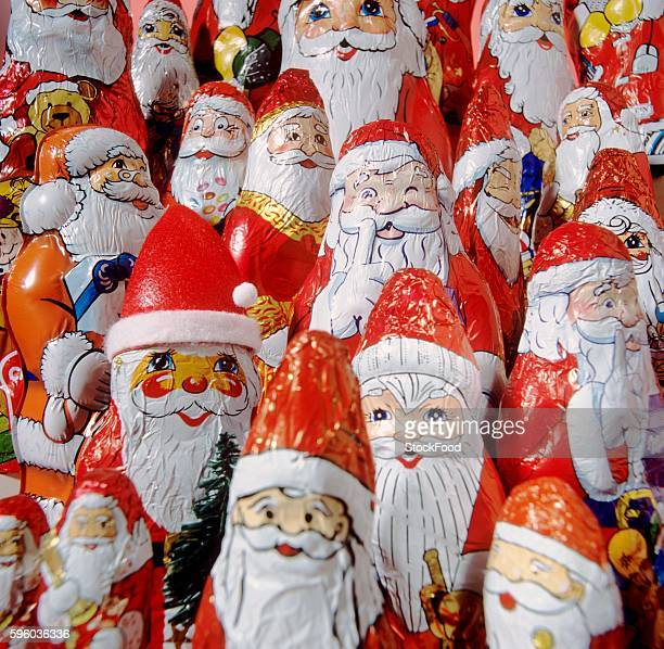 Assorted chocolate Santas