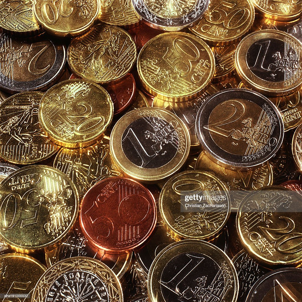 Assorted coins. : Stockfoto