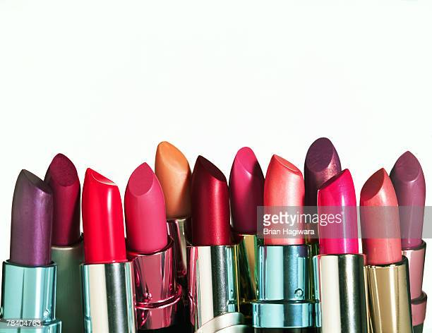 Assorted colorful lipstick
