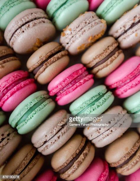 assorted colorful macaroons - macarons stock photos and pictures