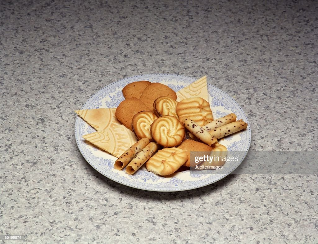 Assorted cookies on plate : Stock Photo
