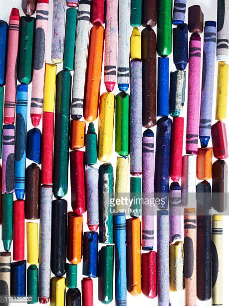 assorted crayons - crayon stock pictures, royalty-free photos & images