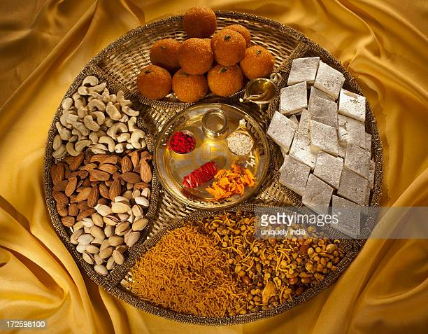 Assorted Diwali sweets and snacks