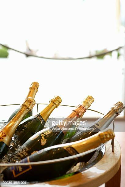 Assorted drinks in champagne cart