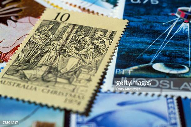 Assorted foreign postage stamps