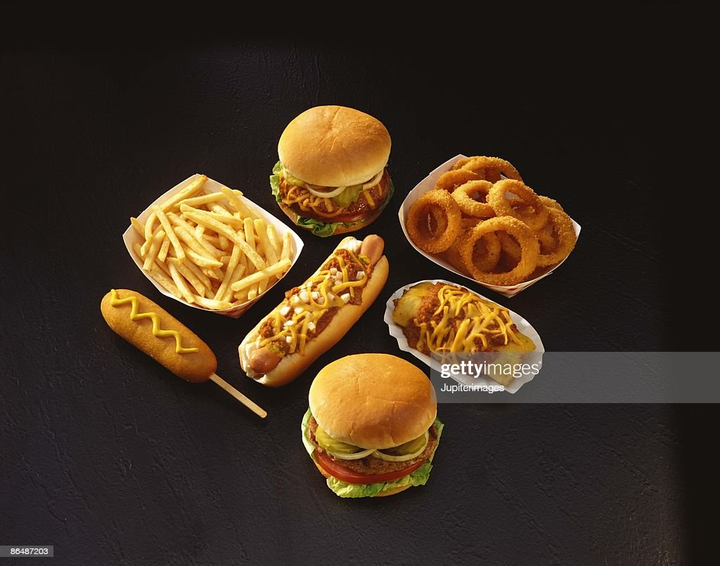 Assorted fried foods : Stock Photo