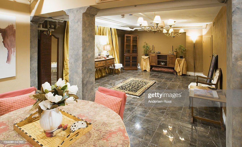 Assorted Furniture In Basement Stock Photo Getty Images