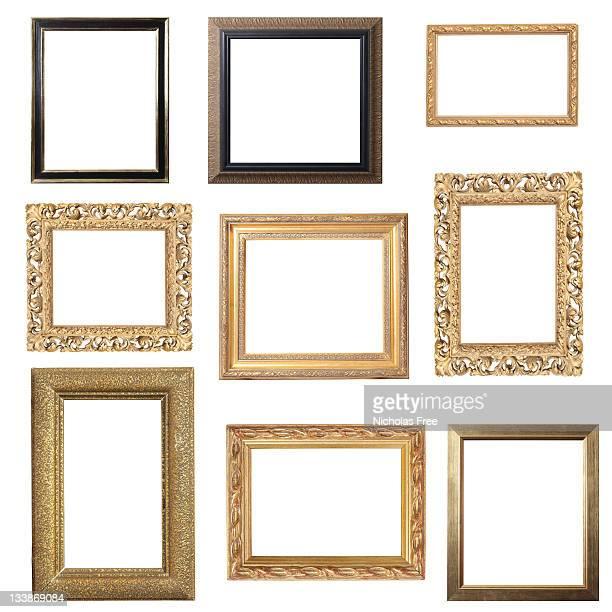 Assorted Gold Frames