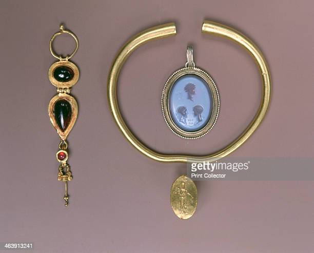 Assorted Greek and Roman jewelry 4th century BC17th century Greek gold ring 4th century BC Gold bracelet Parthian 2nd century AD golden earing Roman...