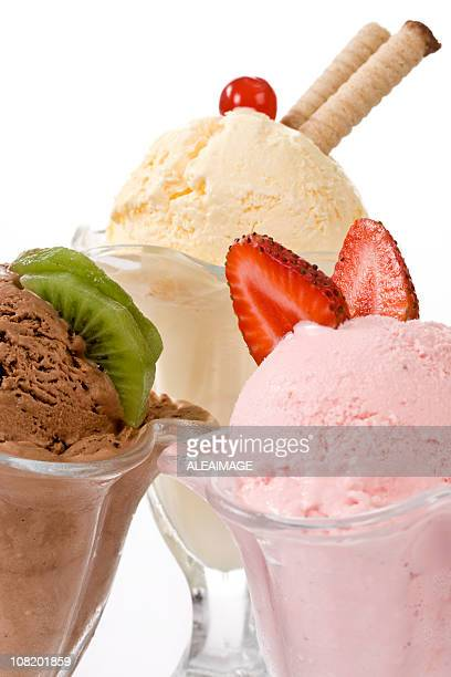 Assorted Ice Cream in Glass Classic Sundae Cups
