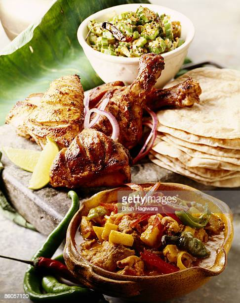 Assorted indian dishes