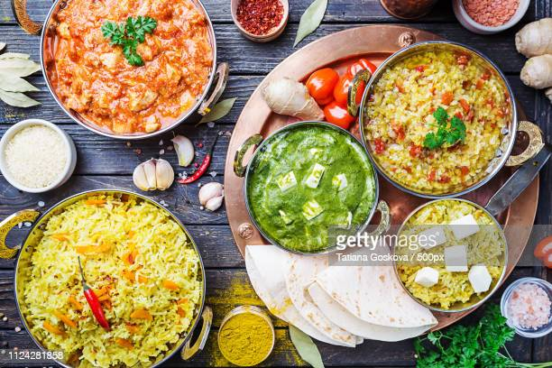 assorted indian food - curry meal stock pictures, royalty-free photos & images