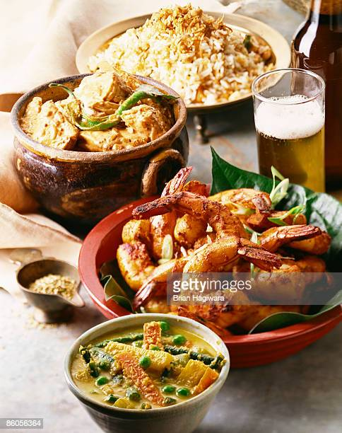 Assorted Indonesian dishes