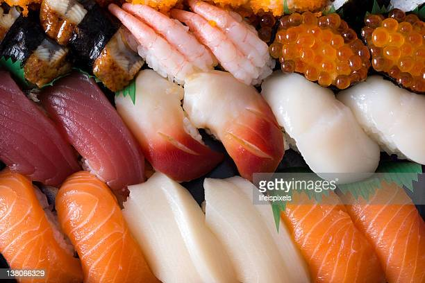 assorted japanese sushi - lifeispixels stock pictures, royalty-free photos & images