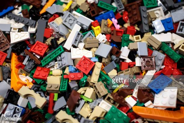 Assorted Lego pieces on display at a 'Dream Toys' event to unveil the top twelve toys this Christmas on November 14 2018 in London England The Toy...