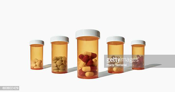 Assorted Medical Drugs on white background