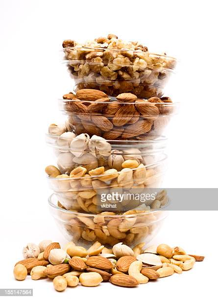 assorted nuts - salted stock pictures, royalty-free photos & images
