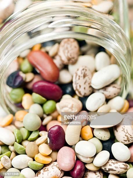 assorted organic beans