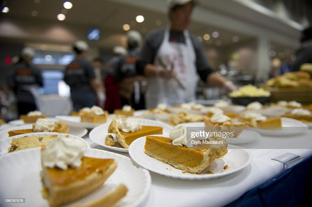 Assorted pies at the 13th annual Safeway Feast of Sharing at the Washington Convention Center. More than 5000 people were expected for the free Thanksgiving meal, job and health fair.