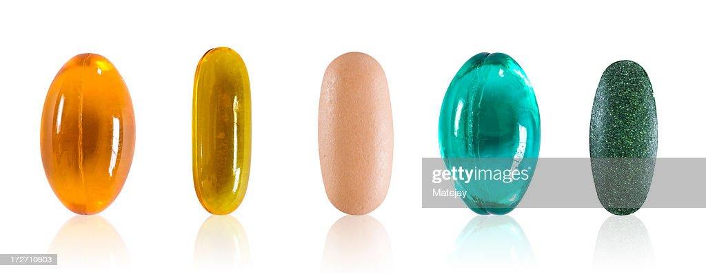 Pilules assortis avec un Tracé de détourage : Photo
