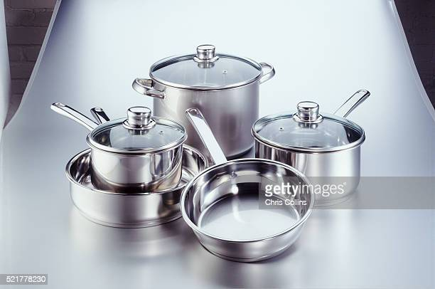assorted pots and pans - 調理鍋 ストックフォトと画像